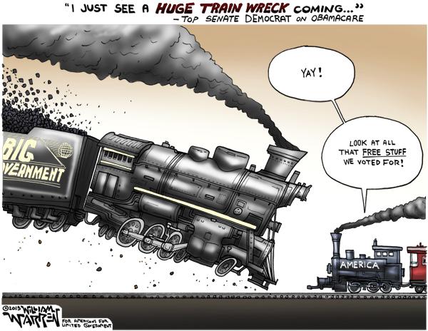 obamacare train wrecj