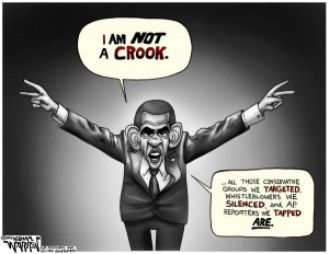 Cartoon - Obama el Crook - 600